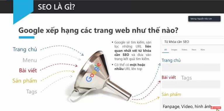 Cách google xếp hạng trang