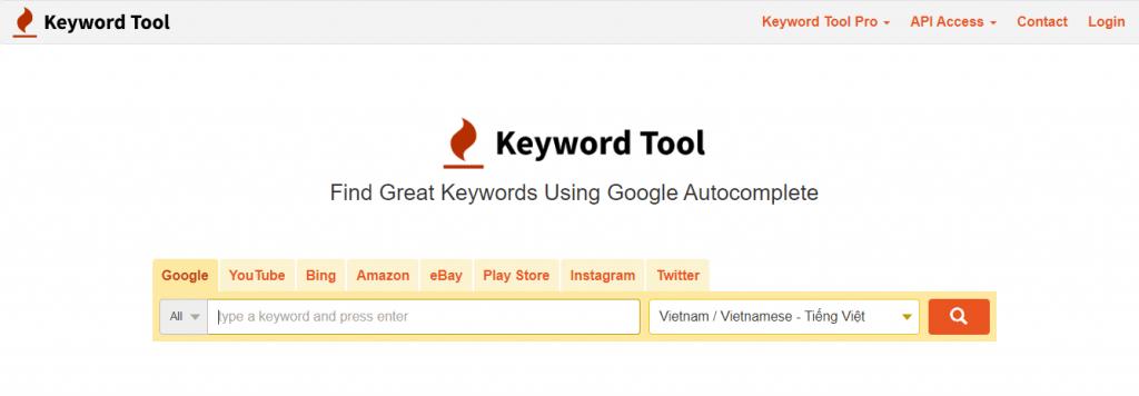 Nghiên cứu từ khóa bằng công cụ Keywordtool.io