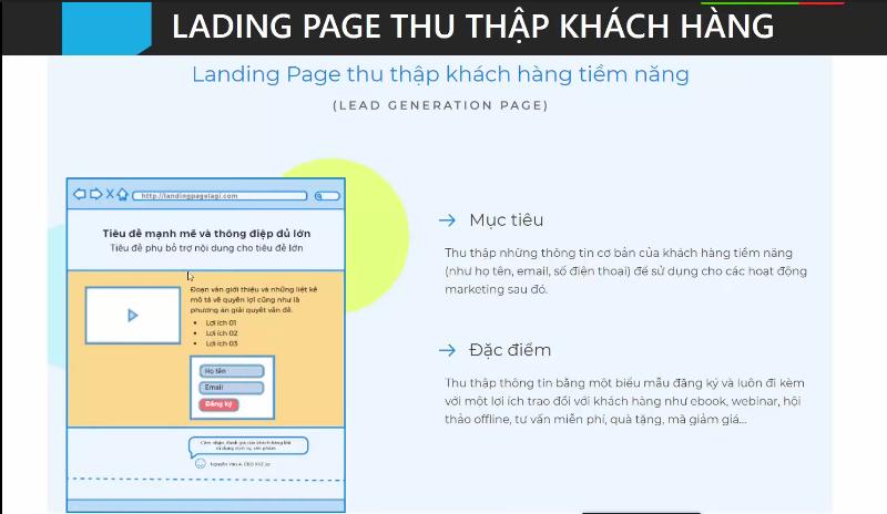 Landing Page thu thập khách hàng