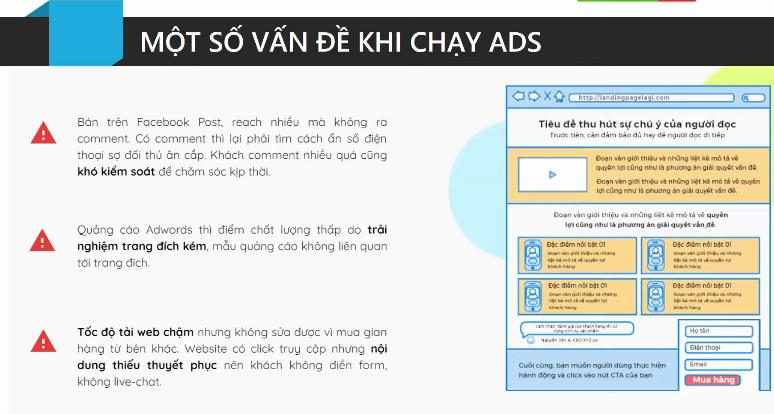 Một số vấn đề gặp phải khi chạy ads