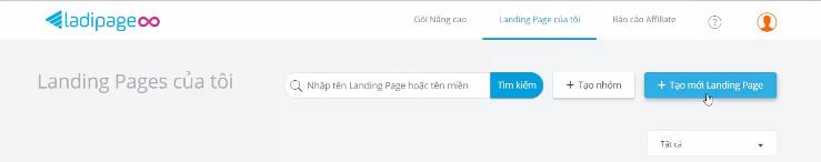 Tạo mới Landing Page