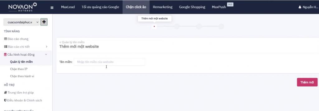 Phần mềm chặn click ảo